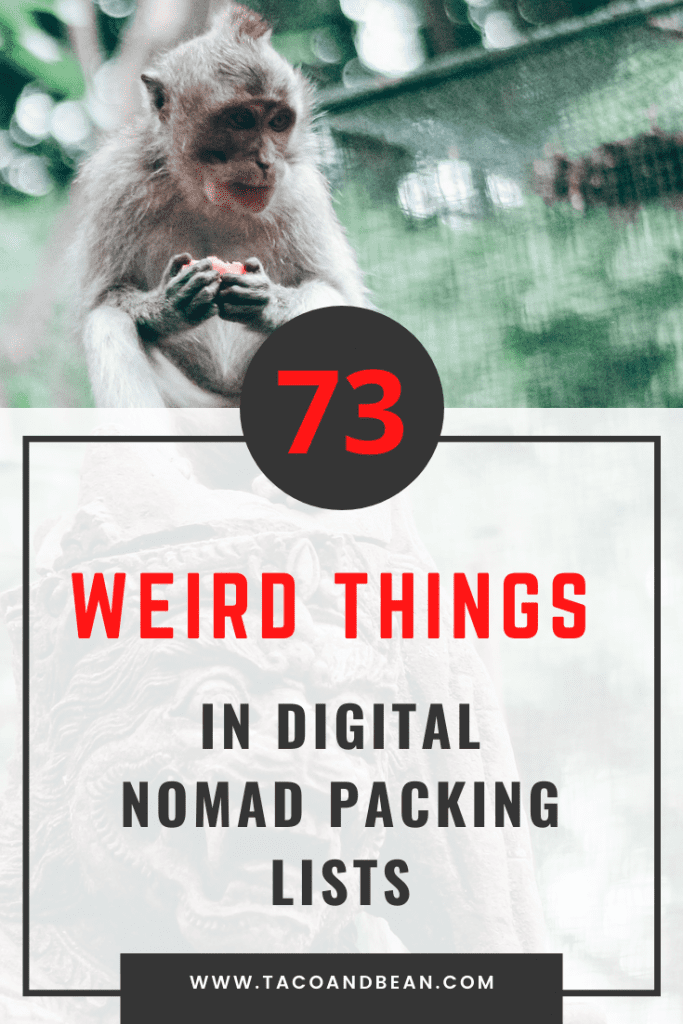 weird things digital nomads travel with