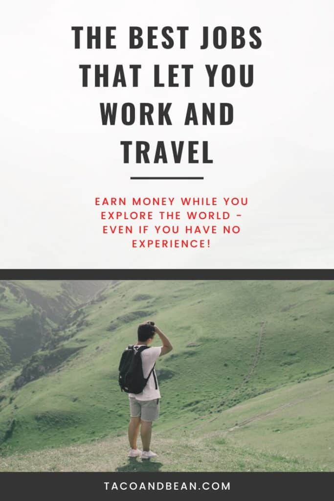 the best jobs that require travel so you can work remotely