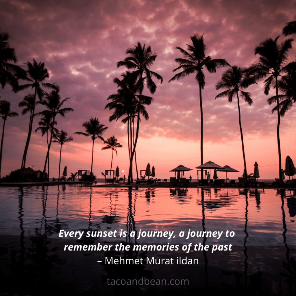 sunset quote and caption for instagram