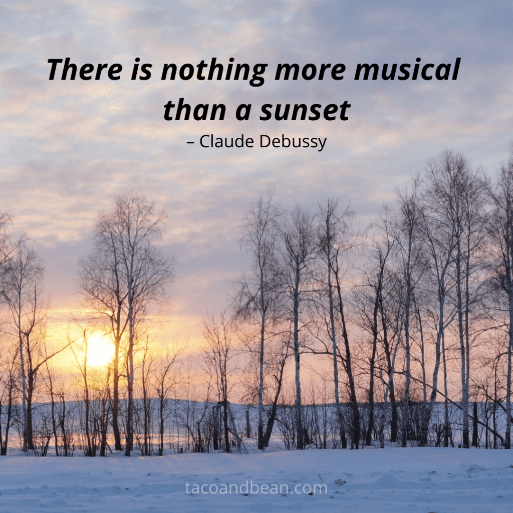 an inspirational quote about sunsets
