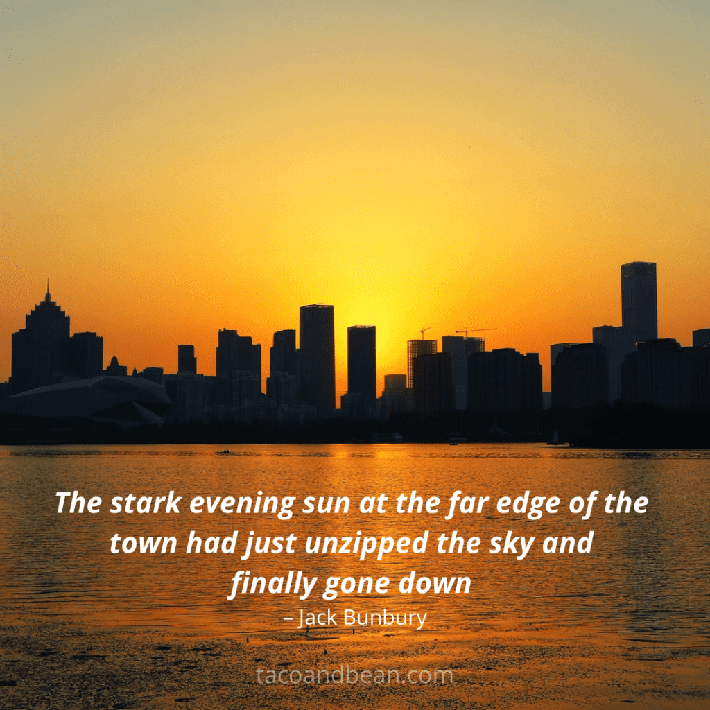 best sunset quote with captions for instagram and facebook