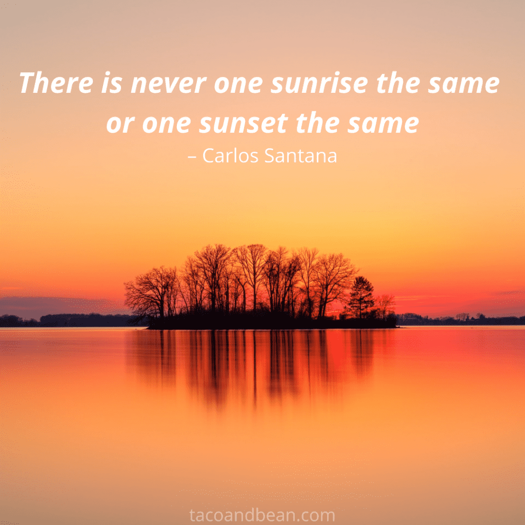 santana quote about sunsets