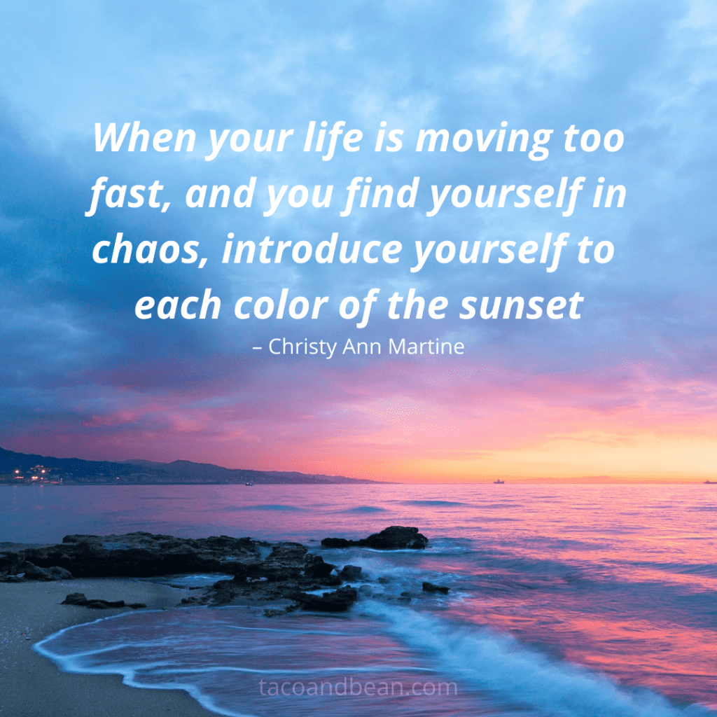 sunset quote and caption for social media and instagram