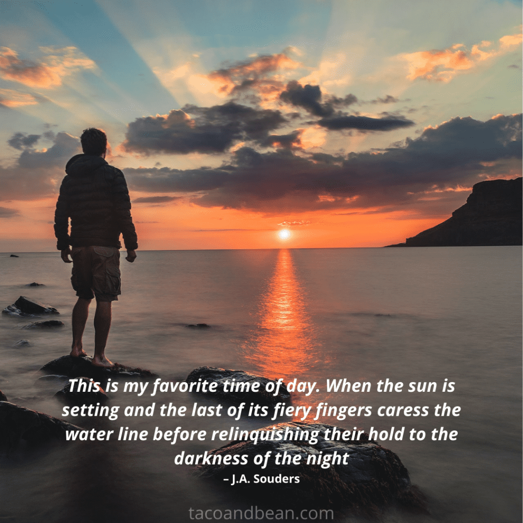 instagram sunset caption and quote