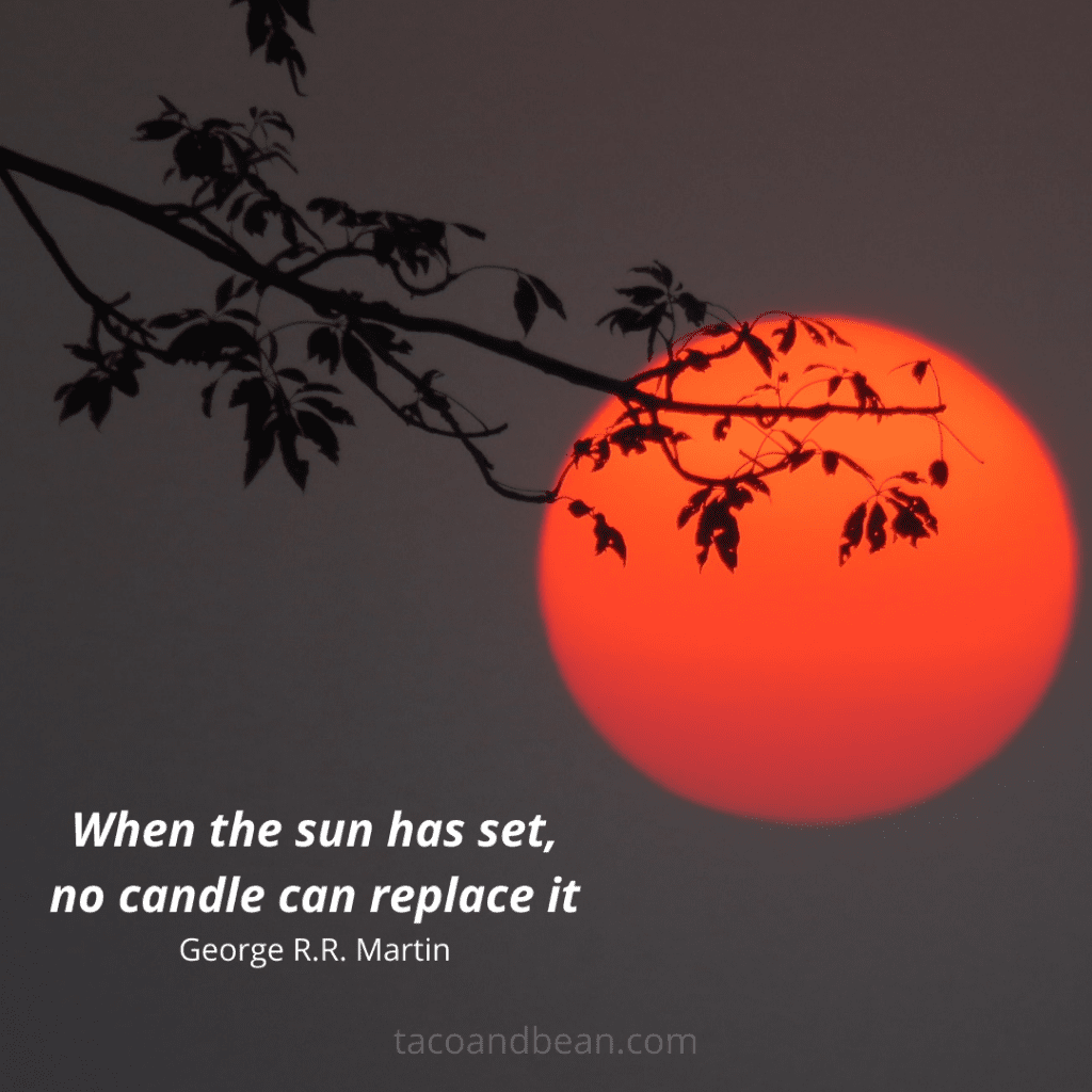 a quote about sunsets for instagram