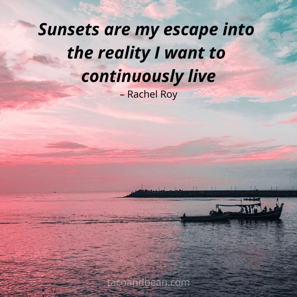 instagram image with sunset photo and quote